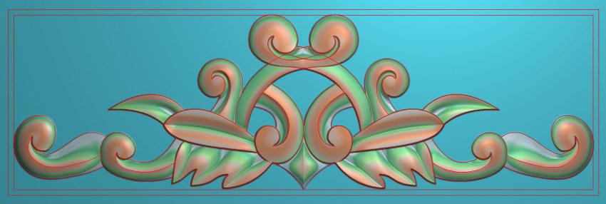 欧式三角花图JDP格式横图浮雕外墙装饰花洋花系列柜门花SH0217插图