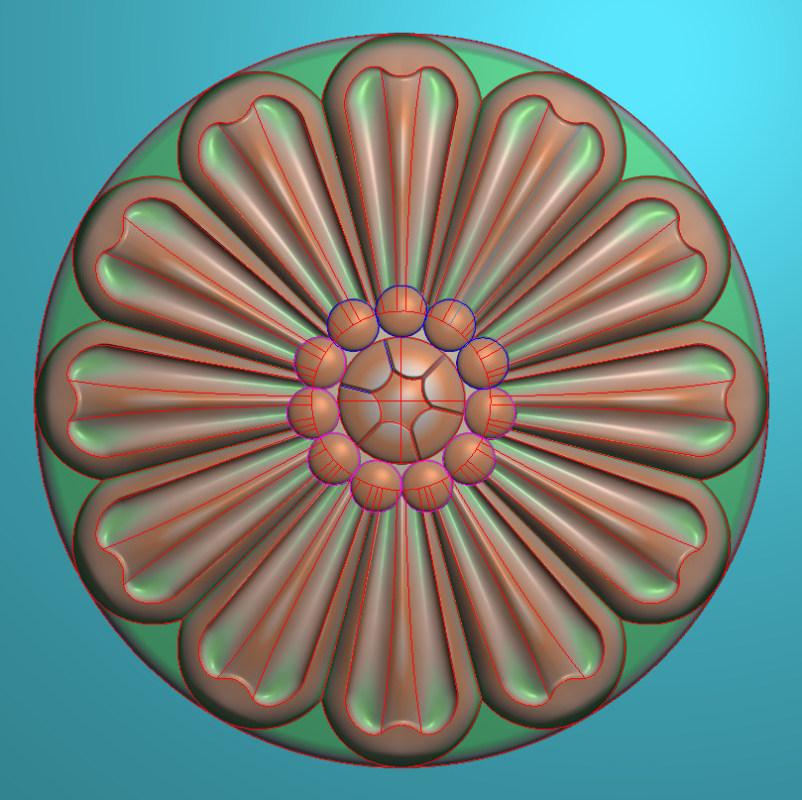 欧式圆花图JDP格式贴花门上花洋花系列罗马柱头贴片YH0081插图