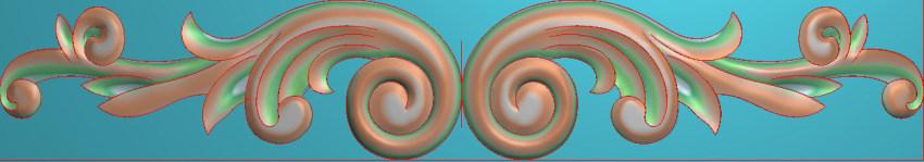 欧式三角花图JDP格式横图浮雕外墙装饰花洋花系列柜门花SH0138插图