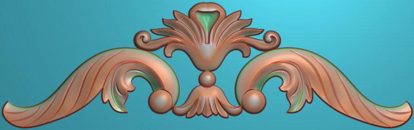 欧式三角花图JDP格式横图浮雕外墙装饰花洋花系列柜门花SH0195插图