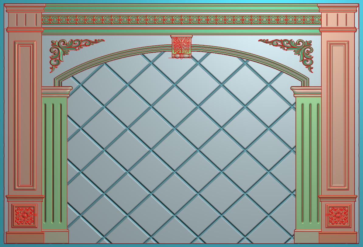 欧式横图JDP格式背景墙系列BJ0049插图