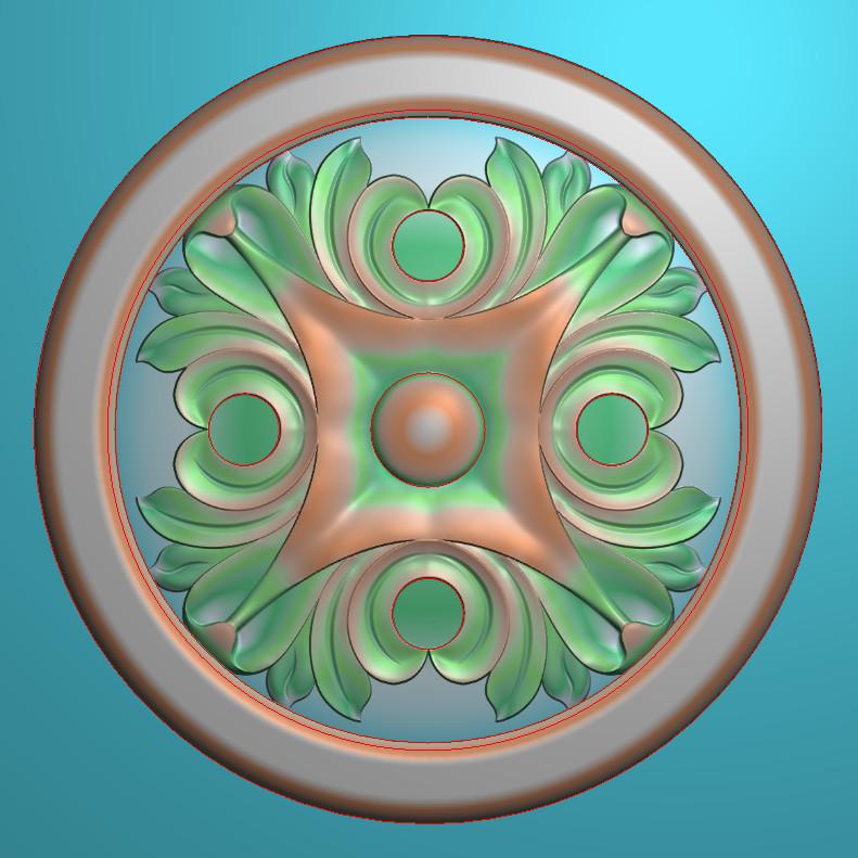 欧式圆花图JDP格式贴花门上花洋花系列罗马柱头贴片YH0093插图