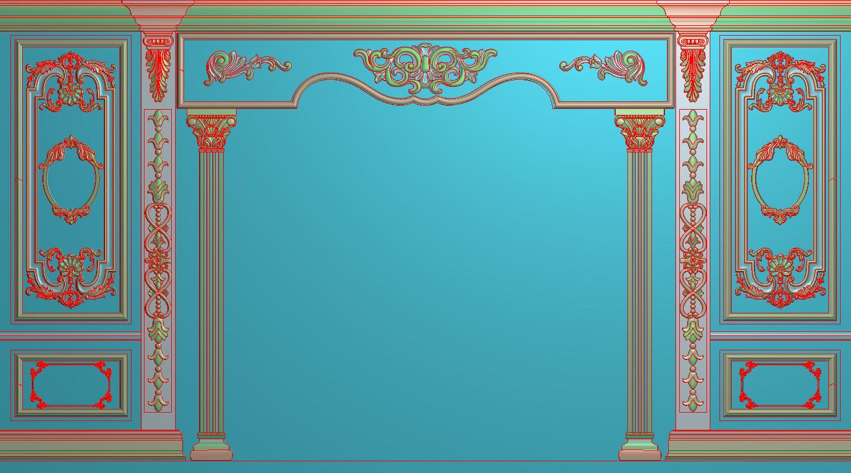 欧式横图JDP格式背景墙系列BJ0033插图