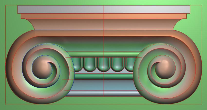 欧式横图JDP格式罗马柱头系列ZB025插图