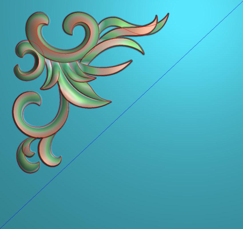 欧式正方图JDP格式植物角花系列JH0227插图
