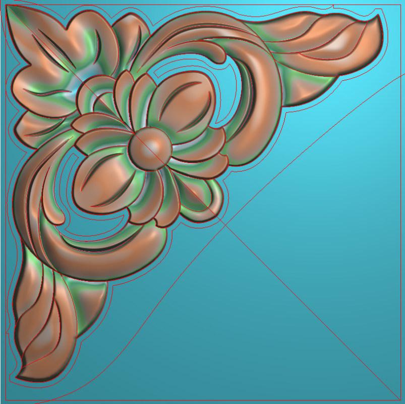 欧式正方图JDP格式植物角花系列JH0235插图
