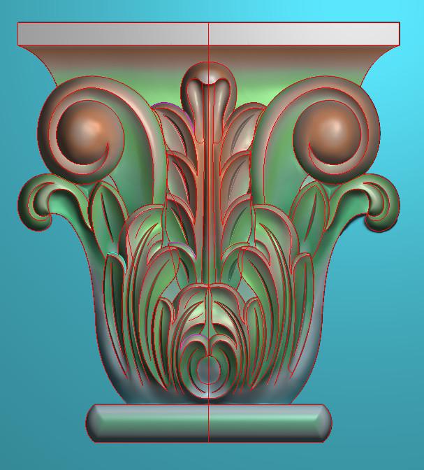 欧式竖图JDP格式罗马柱头系列ZB022插图