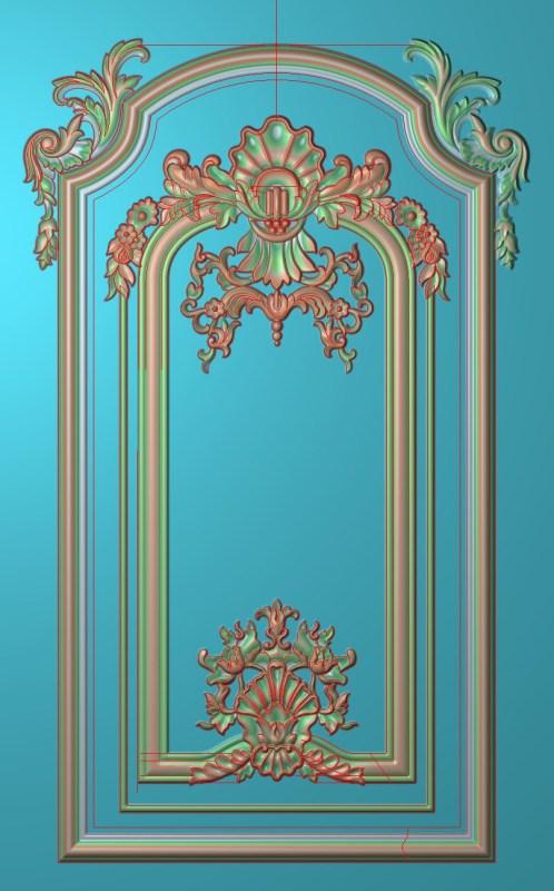 欧式竖图JDP格式雕刻雕花护墙板系列HQ00118插图