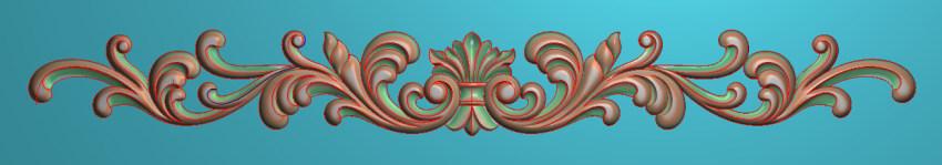 欧式三角花图JDP格式横图浮雕外墙装饰花洋花系列柜门花SH0158插图