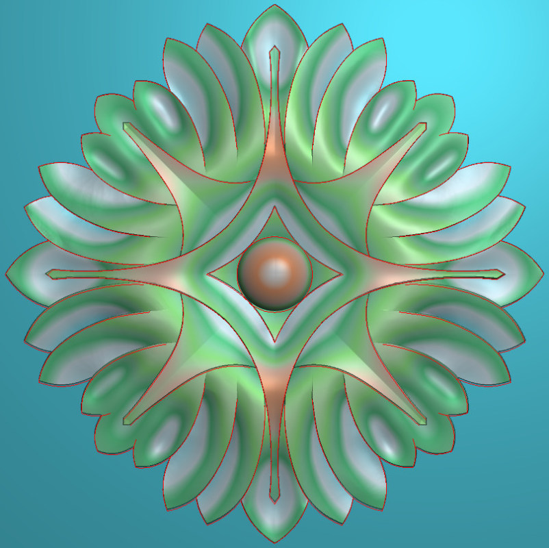 欧式圆花图JDP格式贴花门上花洋花系列罗马柱头贴片YH0022插图