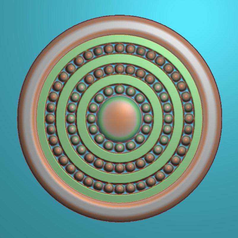 欧式圆花图JDP格式贴花门上花洋花系列罗马柱头贴片YH0055插图