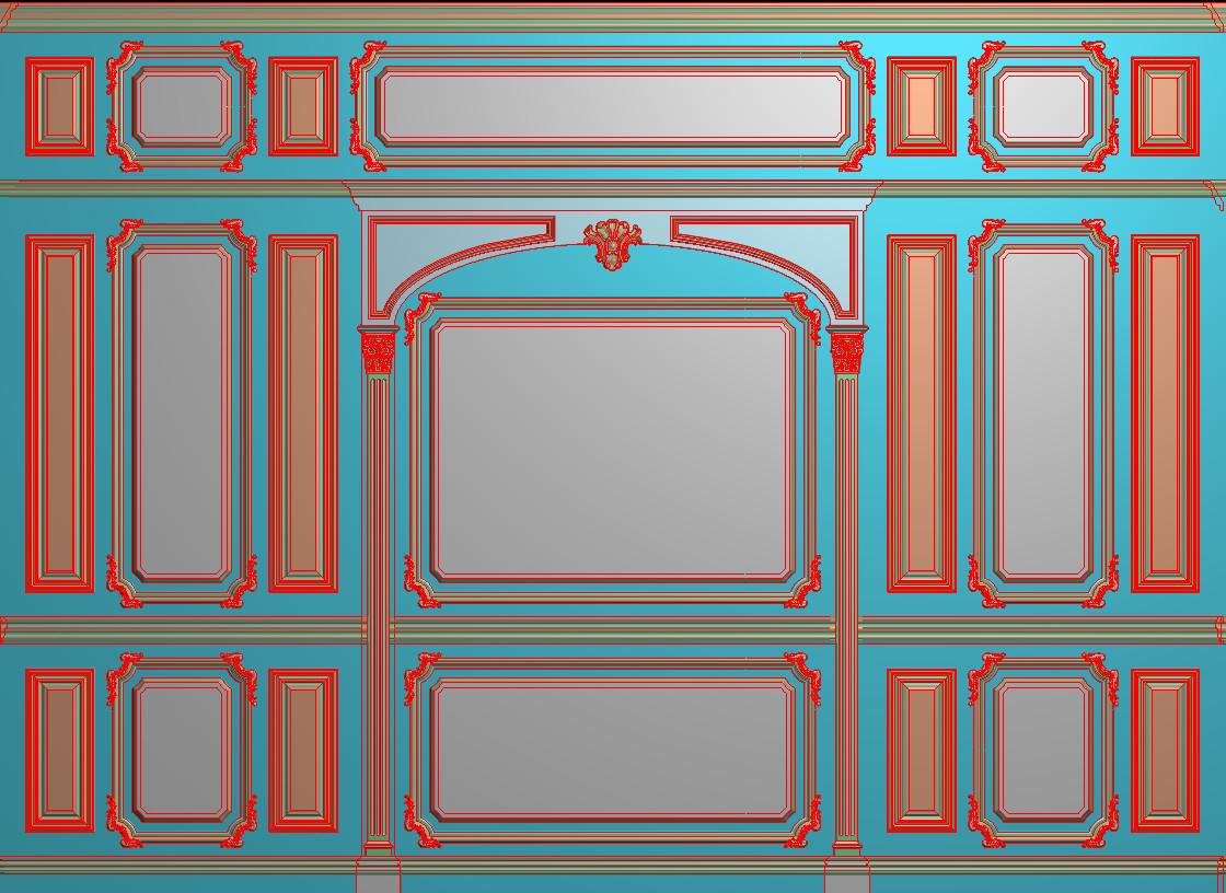 欧式横图JDP格式背景墙系列BJ0021插图