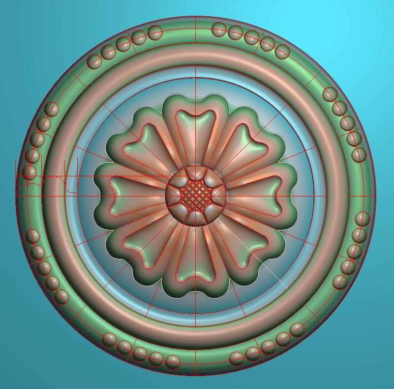 欧式圆花图JDP格式贴花门上花洋花系列罗马柱头贴片YH0072插图