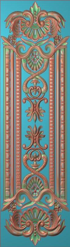 欧式竖图JDP格式雕刻雕花护墙板系列HQ0088插图