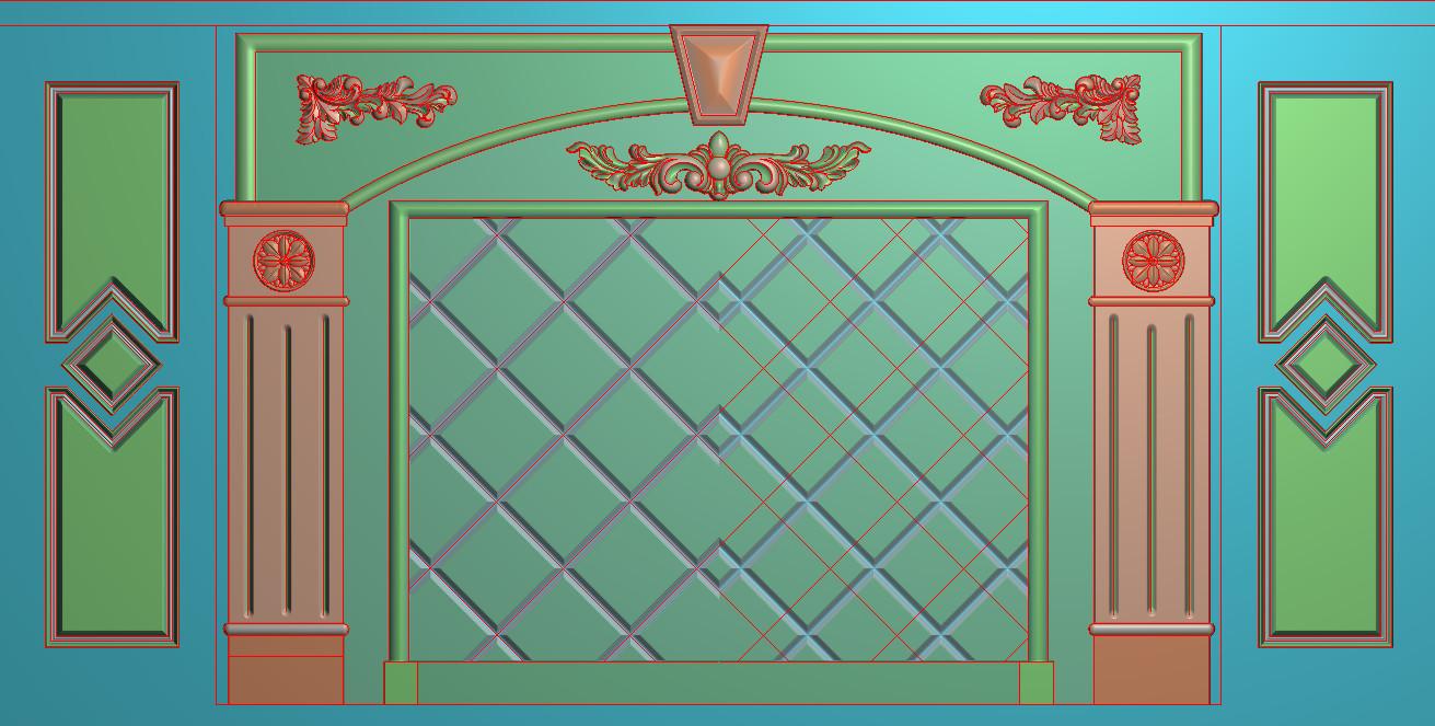 欧式横图JDP格式背景墙系列BJ0030插图