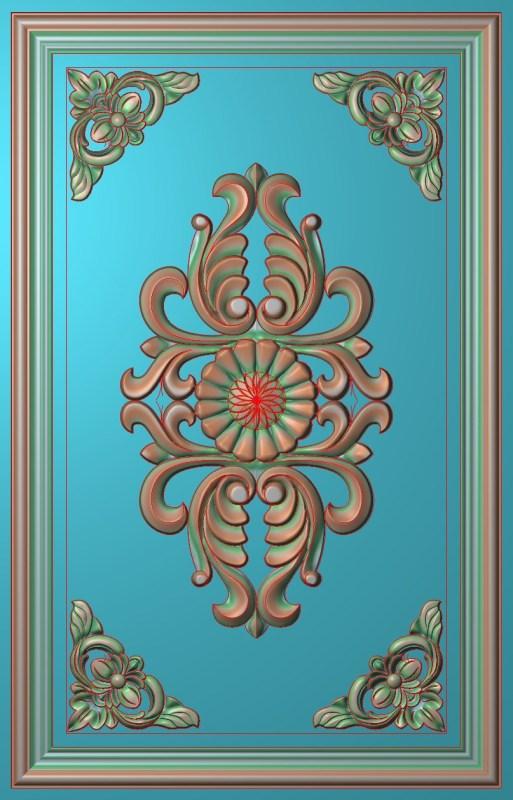 欧式竖图JDP格式雕刻雕花护墙板系列HQ0029插图