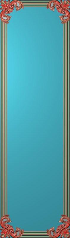 欧式竖图JDP格式雕刻雕花护墙板系列HQ00135插图