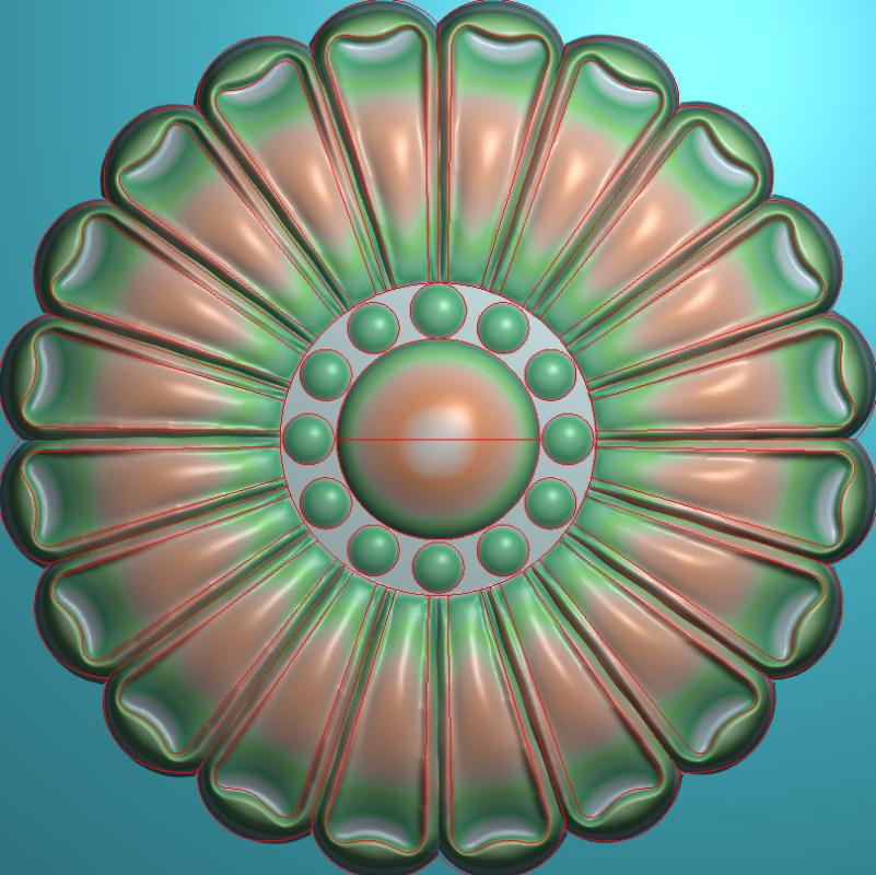欧式圆花图JDP格式贴花门上花洋花系列罗马柱头贴片YH005插图