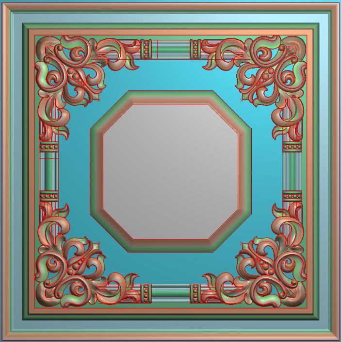 欧式正方图JDP格式贴花方块花洋花系列罗马柱头贴片FH029插图