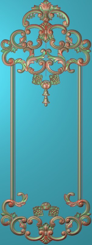 欧式竖图JDP格式雕刻雕花护墙板系列HQ00119插图