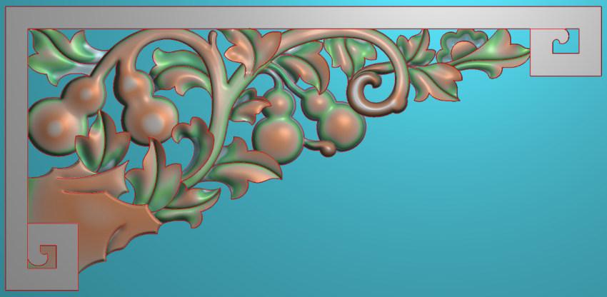 中式横图JDP格式植物角花系列JH0195插图
