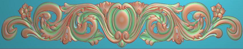 欧式三角花图JDP格式横图浮雕外墙装饰花洋花系列柜门花SH091插图