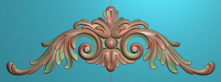欧式三角花图JDP格式横图浮雕外墙装饰花洋花系列柜门花SH013插图