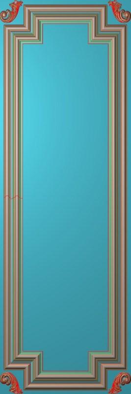 欧式竖图JDP格式雕刻雕花护墙板系列HQ0046插图