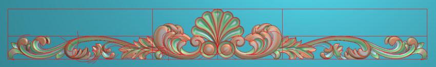 欧式三角花图JDP格式横图浮雕外墙装饰花洋花系列柜门花SH0140插图
