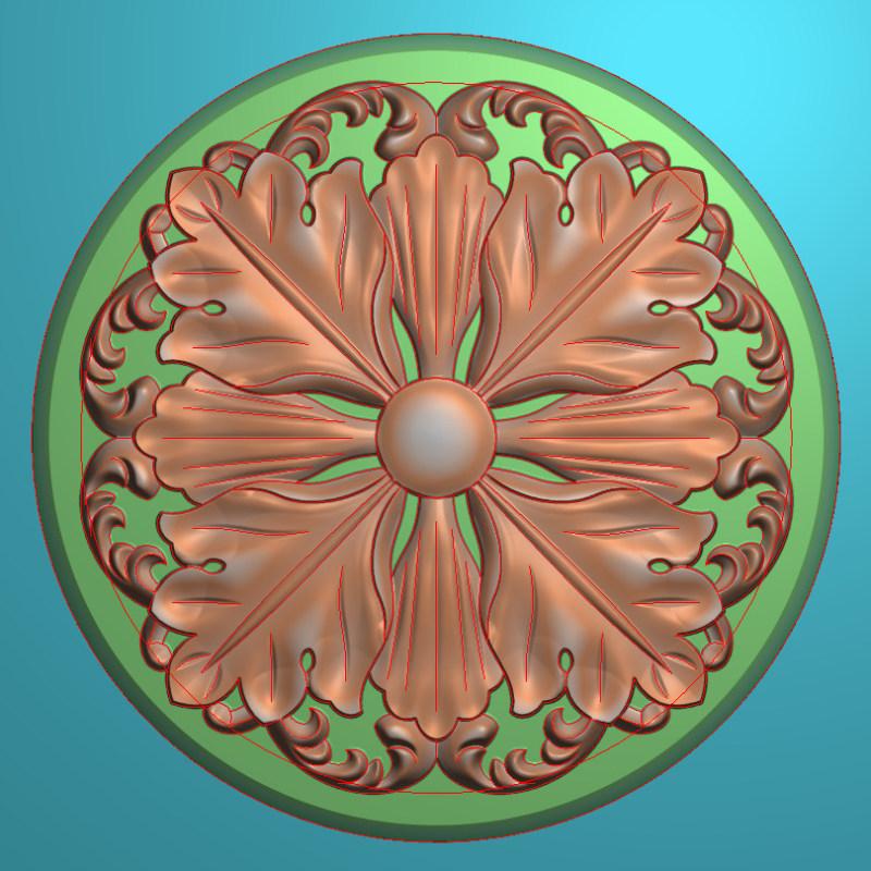 欧式圆花图JDP格式贴花门上花洋花系列罗马柱头贴片YH0050插图