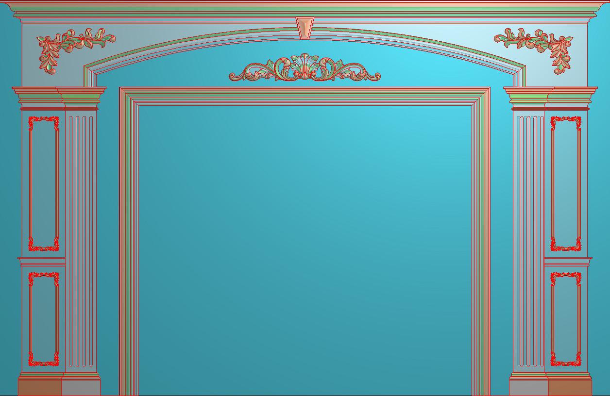 欧式横图JDP格式背景墙系列BJ0022插图