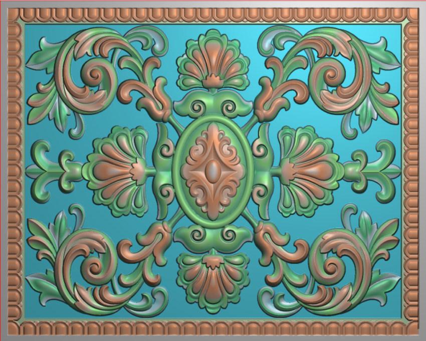 欧式横图JDP格式贴花方块花洋花系列罗马柱头贴片FH041插图