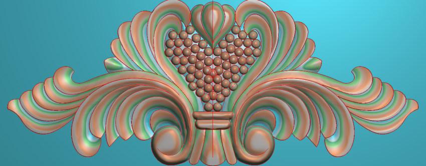 欧式三角花图JDP格式横图浮雕外墙装饰花洋花系列柜门花SH044插图