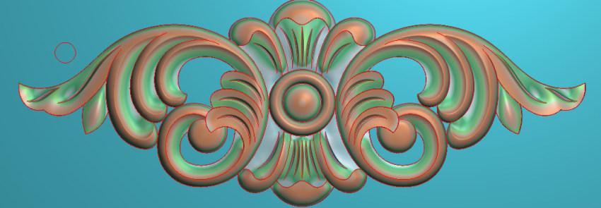 欧式三角花图JDP格式横图浮雕外墙装饰花洋花系列柜门花SH082插图