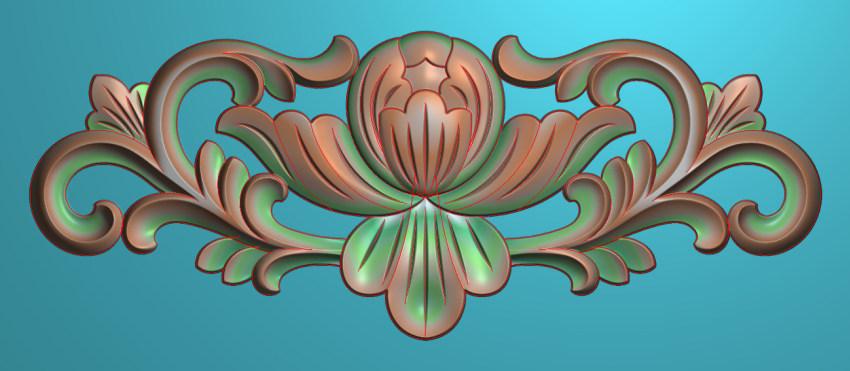 欧式三角花图JDP格式横图浮雕外墙装饰花洋花系列柜门花SH0247插图