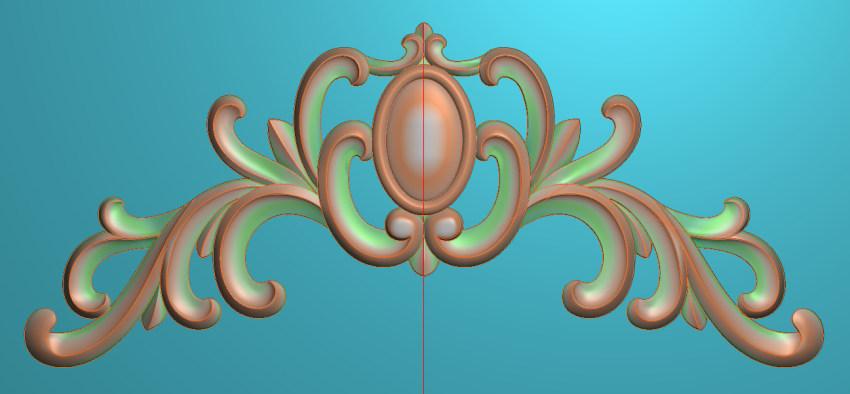 欧式三角花图JDP格式横图浮雕外墙装饰花洋花系列柜门花SH0248插图