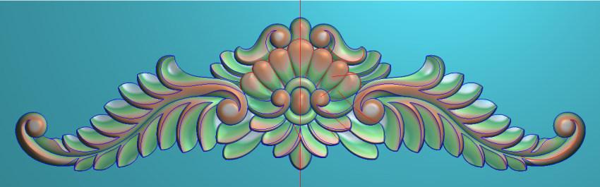 欧式三角花图JDP格式横图浮雕外墙装饰花洋花系列柜门花SH0191插图
