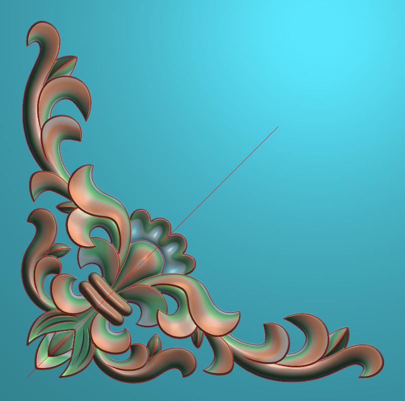 欧式正方图JDP格式植物角花系列JH0225插图