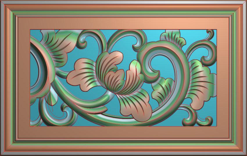 欧式横图JDP格式贴花方块花洋花系列罗马柱头贴片FH017插图