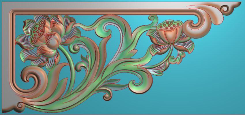 欧式横图JDP格式植物角花系列JH0189插图
