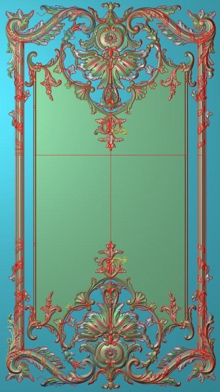 欧式竖图JDP格式雕刻雕花护墙板系列HQ0020插图