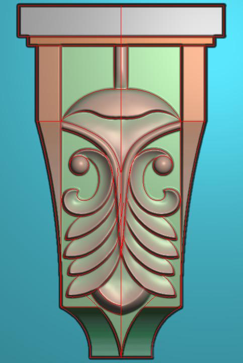 欧式竖图JDP格式罗马柱头系列ZB034插图