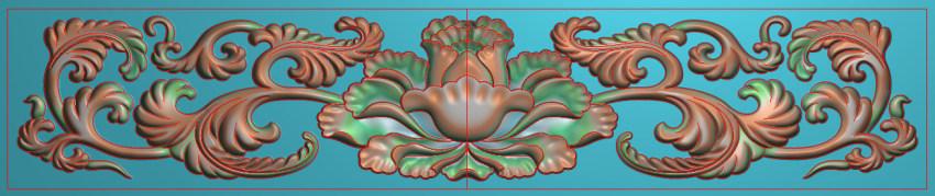 欧式三角花图JDP格式横图浮雕外墙装饰花洋花系列柜门花SH0192插图