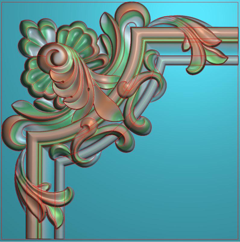 欧式正方图JDP格式植物角花系列JH0212插图