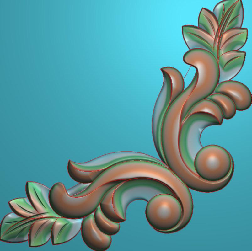 欧式正方图JDP格式植物角花系列JH0177插图
