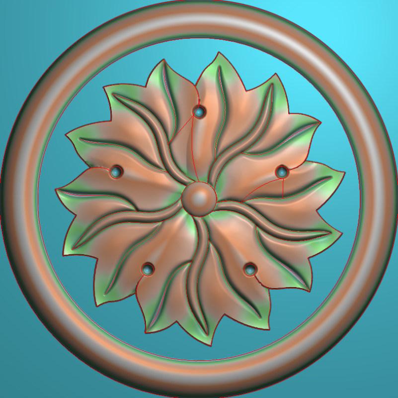 欧式圆花图JDP格式贴花门上花洋花系列罗马柱头贴片YH008插图