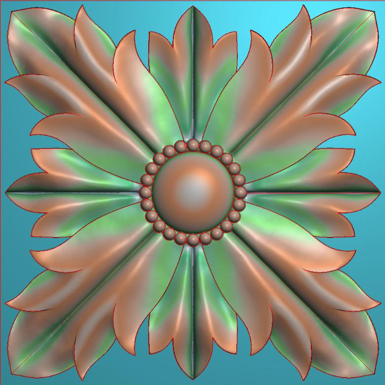 欧式正方图JDP格式贴花方块花洋花系列罗马柱头贴片FH011插图