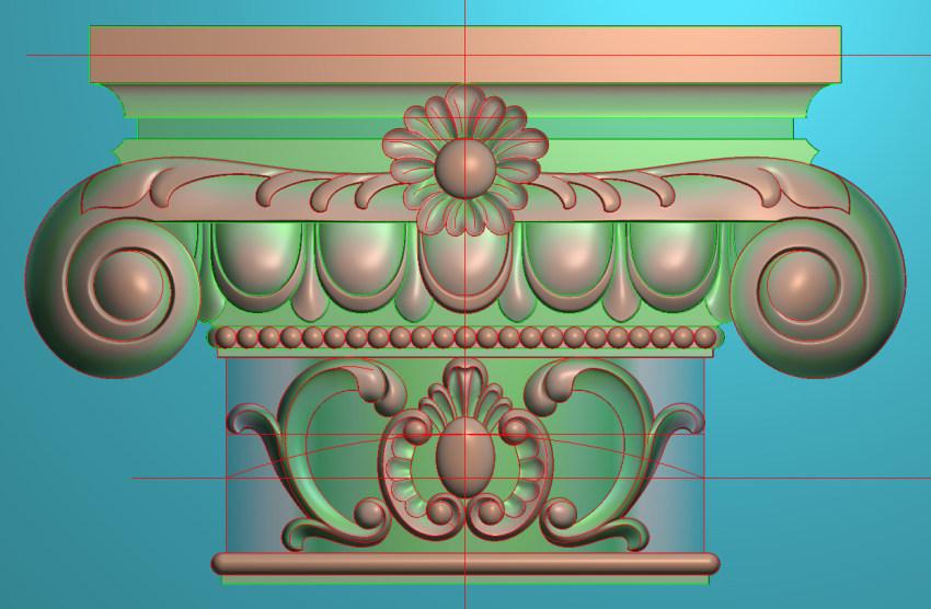 欧式横图JDP格式罗马柱头系列ZB026插图