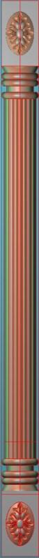 欧式竖图JDP格式罗马柱柱体系列ZB083插图