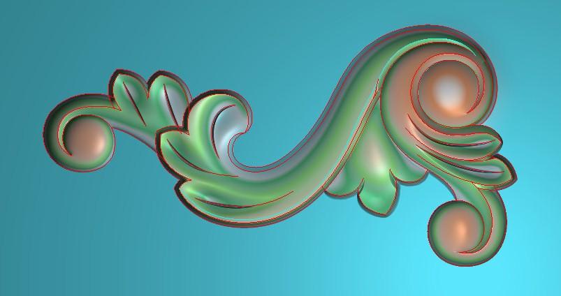 欧式横图JDP格式植物角花系列JH026插图